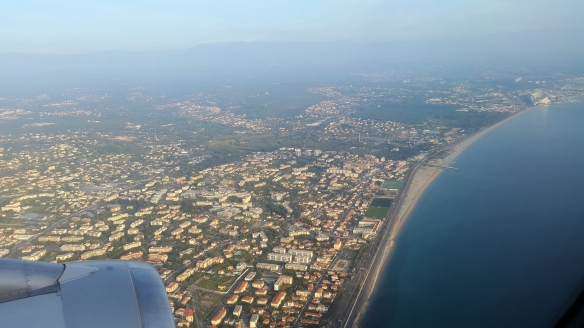 Flying into Nice